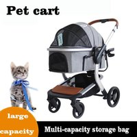 Dog Car Seat Covers Pet Stroller Carrier For Dogs Detachable Foldable Portable Transportation Breathable Windproof Cat And Four Wheeled Cart