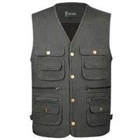 Men's Vests Man Plus Size Casual Cotton Male Oversized Autumn Waistcoat Men Spring Vest Gilet Chaleco Abrigo Manteau Arriba Chaqueta
