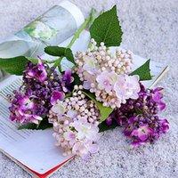 Flores decorativas guirnaldas artificiales hortensias tallos seda otoño floral acuerdos acentos bodas decoración para el hogar bridal ramo mesa cente