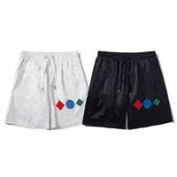 Summer para hombre suelta casual moda pantalones cortos coloridos impresión transpirable y cómodo deportes usan pantalones recortados