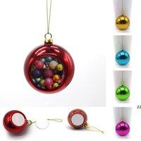 Sublimations-Leerzeichen 6cm Weihnachtskugel Dekorationen Transferdruck Wärmepresse DIY Geschenke Handwerk Weihnachtsbaum Ornament HWA8430
