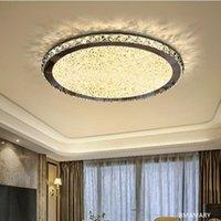 Ceiling Lights Modern Ultra-thin Fashion Luxury Round Led Crystal Light Living Room 110V 220V High-quality Lamps