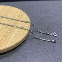 S925 Sterling Retro Square Kreuz Für Mann Frauen Thai Silber Langkette Seil Halsketten Jewery