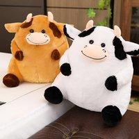 35 cm Kawaii Plushie Bestiame giocattoli animali imbottiti morbidi peluche grasso mucca cuscino cuscino bambola giocattoli per ragazze bambini regali di compleanno