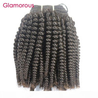 Glamouröse natürliche brasilianische Haarverlängerungen 1 stücke 8-30inch monglian kinky lockiges haar weben jungfrau indisch kambodschanische peruanische menschliche haar schuss