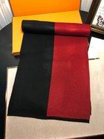 Europäischer und amerikanischer Big Herren-Schal, Mode-klassische Buchstaben doppelt seitlicher Seitenfarbe gestrickte Wolle langer Schal Schristmas Geschenkschals