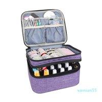 Mask Box1 Handbag Organizer Bag Polish Manicure Holder Nail Oil Perfume Essential Tools Storage Cosmetic Carrying Double-Layer Jnlao