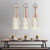 Modern LED Pendant Lamp Perfume Bottle Crystal Bubble Column Cafe Chandelier Individual Living Room Art Restaurant Light Lamps