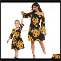 Clothing Baby, Kids & Maternitymom Baby Girl Dress Clothes Matching Mother Daughter Off Shoulder Party For Mommy And Me Sunflower Family Look