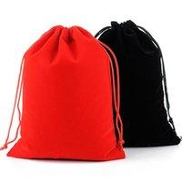 17x23cm Bolsa de cordón grande de la boda Favor de la boda Maquillaje Packaing Regalo Velvet Bag Hwe10145