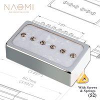 NAOMI P90 Electric Guitar Pickup Bridge Pickup Chrome Cover w  6 Adjustable Screws Ceramic Magnet Balanced Sound & Less Humming