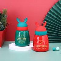 엘크 머그잔 뿔 크리스마스 선물 컵 냄비 냄비 학생 304 스테인레스 스틸 귀여운 컵 귀여운 물 병 텀블러 바다 선박 GWE9764