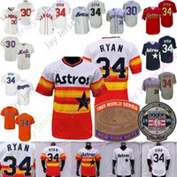 Nolan Ryan Jersey Rainbow Vintage 1969 WS 1994 1973 Gream Cooperstown Gray Gray Gray Back Navy Mesh BP 1999 Hall of Fame Patch Tamaño S-3XL