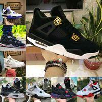 Verkauf 2021 gezüchtet Black Cat 4 4s Basketballschuhe Männer Herren Herrenabscheidezement Encore Wings Fire Red Singles Designer Sneakers IV Pure Money Trainer