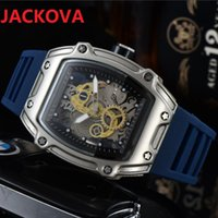 Luxury sports mens watches 43mm japan quartz movement chronograph watch for men all dial work designer wristwatches rubber silicone strap