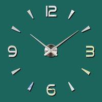 Wall Clock Quartz Watch Modern Design Large Decorative Clocks Europe Acrylic Stickers Living Room