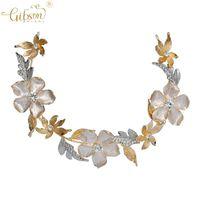 Handmade Hair Accessories Flower Rhinestone Bridal Tiara Headband Wedding Comb Clip For Women Headpiece Clips & Barrettes