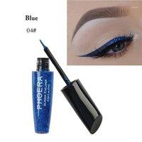 Brillantes destellando los brillos de los ojos de los ojos secos rápidos a prueba de agua Eyeliner Silky National Maquillaje COMESTICS Herramientas fáciles de usar TSLM11