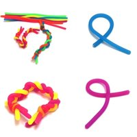 Fidget Decompression Rope Noodle Ropes Sensory Toys for Kids Adult Fidget Abreact Flexible Glue Ropes Stretchy String Neon Slings H22202