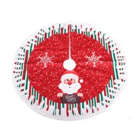 Christmas Decorations High Quality 2021 Tree Skirt Living Room Bedroom Round Carpet Non-woven Cloth Floor Rug 80cm Diameter