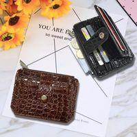 Card Holders 25# Women Slim Business Holder Pu Leather Wallet Bag Zipper Credit id bank Case Coin Purse