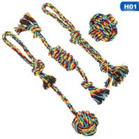 Dog Toys & Chews 4pcs Cotton Rope Toy Set Knot Puppy Chew Teething Teeth Cleaning Pet Braided For Supplies