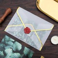 ختم طباعة ورقة مغلف هدية التفاف شفافة حامض الكبريتات الأوراق مغلفات لحفل زفاف غفاة HWD6645