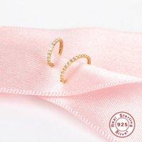 Stud Aide 10mm CZ Crystal Piercing Ear Tragus Cartilage Jewelry 925 Silver Nose Hoop Ring 2021 Body Kolczyki Damskie