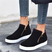 Boots Women's Rubber Australia Zipper Leopard Shoes Winter Footwear Round Toe Flat Heel Boots-Women Rain Snow 2021 Elegant Ladie