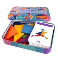 3D Ahşap Desen Hayvan Jigsaw Puzzle Renkli Tangram Oyuncak Çocuklar Montessori Erken Eğitim Sıralama Oyunları Oyuncaklar Çocuk Hediye