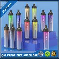 QST E-Cigarettes Vapor Flex Super Barre Jetable Dispositif 2000 Puffs 12 Couleurs 1250mAh 6.5 ml 5% Stick Stick Stick Vape Pen Usine En gros