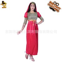 Renacimiento Vestidos casuales Halloween Medieval Red Princips Party DRS