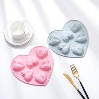 قطعة ماس القلب الحب شكل سيليكون كعكة العفن الوردي والأزرق كب كيك فرن الآمن الشوكولاته موس الحلوى باكين قوالب الخبز