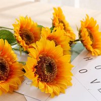 Decorative Flowers & Wreaths 1pcs Artificial Silk Sunflower For Wedding Party Decoration Home Garden Accessories Valentine's Day Christmas