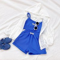 Children Cotton Clothes Set Short Sleeve Infant Girl Casual Sportswear Boys Summer Sports Suit Print Baby Girls Outfit
