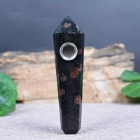 Натуральный гранат хрустальные трубы оснащены шестиугольной призмы иностранные ручки кусочки курительные производители прямых продаж и оптом