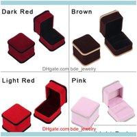Свадебные ювелирные изделияные кольца Wowcraft ювелирные изделия магазин кольцевой коробку 4 разных цветов падение доставки 2021 Wi8yt