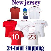 22 22 Suíça Jerseys de futebol Home 2021 2022 Jersey Seferovic Xhaha Elvedi Akanji Rodriguez Zakaria Embolo Behrami Shaqiri Uniformes Camisas de futebol
