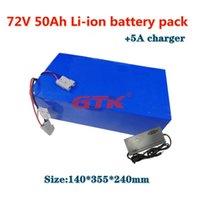 Panier de batterie au lithium-ion de 72V 50Ah sur mesure 72V 50AH avec BMS pour 5000W 10KW Scooter de bicyclette EBIKE CAMION DE CHAMP DE CHANGE DE CHANCHE + 5A