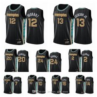 MemphisGrizzliesMänner ja Morant Jarden Jackson Jr. Dillon Brooks 2020/21 Swingman City Basketball Jersey schwarz Neue Uniform