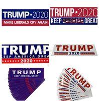 Дональд Трамп Автомобильные наклейки Бампер Наклейка баннеры Флаги Держите America Отличный наклейка для стайлинга автомобиля