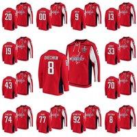 Capitales de Washington 2020 Stanley Cup Playoffs Jersey Alexander Ovechkin T. J. Oshie Tom Wilson John Carlson Lars Eleller Eeller Radko Gudas Hoodie