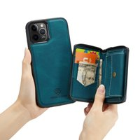 Business PU Leather magnetic Split Wallet phone Cases For Iphone 13 12 Mini 11 Pro Max XR XS X 8 7 Plus Credit Card Slot kickstand Retro Pouch
