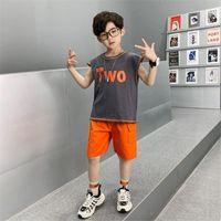 Clothing Sets Kids Tracksuit Vest+Shorts Boy Children's Basketball Suit Baby Clothes Set For 2-12Y Child Training