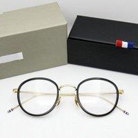 Lunettes de soleil de mode Cadres de haute qualité Rond en forme d'acétate TB905 lunettes cadre Hommes rétro lunettes femmes Myopiène optique lisant lunetterie