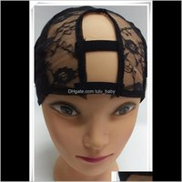 & Tools Productsz&F Adjustable Straps Full Cap U Shape Swiss Lace Caps For Making Wigs Weave Net Hair Extension Wig Aessories Drop Delivery