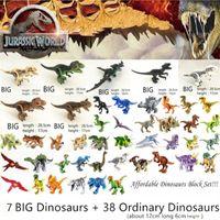 Jurassic World Park Динозавры Семейные строительные блоки Доступный набор Тиранозавр REX Развивающие игрушки подарок для детей C0119