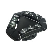 효과 LED 이동 헤드 빔 조명 9pcs 램프 비즈 10W 스파이더 빛 RGBW 색 4 1 무대 조명 DJ 디스코