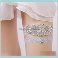 Aessories, Parti EventsBlue Gelin Kristalleri İnciler Gelin Dantel Kemer Boyutu 15 ila 23 inç Düğün Bacak Garterler Gerçek Movic
