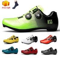Ultraleve auto-bloqueio estrada calçados calçados profissional spd pedal racing bicicleta liso sapatilhas de bicicleta homens calçados
